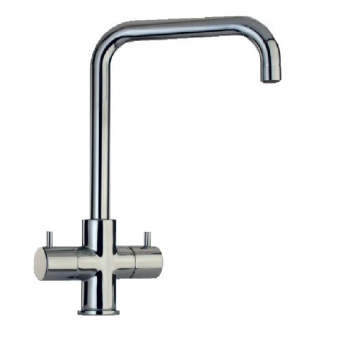 Paini Cox Quad Twin Lever U-Spout Kitchen Mixer Tap